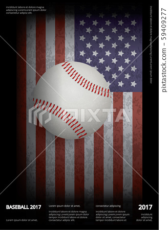Baseball Championship Sport Poster Design Vector Illustration 59409277