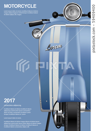 Vintage Motorcycle isolated Vector Illustration 59409400