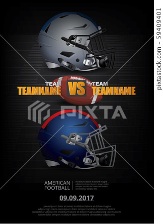 American football Poster Vector Illustration 59409401