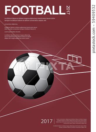 Soccer Football Poster Vestor Illustration 59409532