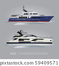Transportation Boat Tourist Yacht to Travel Vector Illustration 59409571