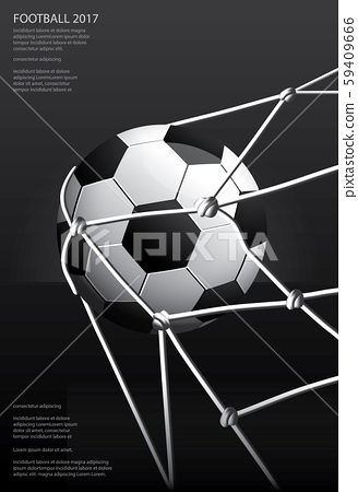 Soccer Football Poster Vestor Illustration 59409666