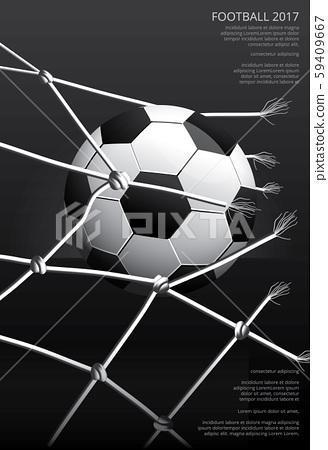 Soccer Football Poster Vestor Illustration 59409667