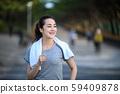 여성 스포츠 조깅 달리기 훈련 59409878