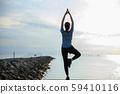 女子瑜伽伸展健身 59410116