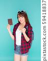 Beautiful portrait young asian woman wear 59418837