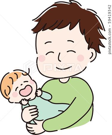 爸爸和媽媽微笑 59419342