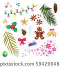 Christmas, New Year decor element set 59420048