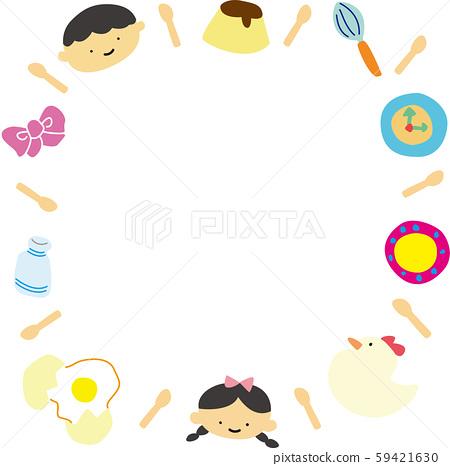 可愛的零食框架方形雜貨糖果男孩女孩 59421630
