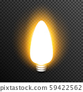 Light bulp lamp realistic decoration vector transparent 59422562