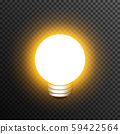 Light bulp lamp realistic decoration vector transparent 59422564
