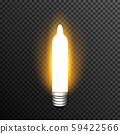 Light bulp lamp realistic decoration vector transparent 59422566