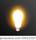 Light bulp lamp realistic decoration vector transparent 59422567