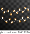 Garland Light bulp lamp christmas decoration vector transparent 59422580