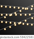 Garland Light bulp lamp christmas decoration vector transparent 59422581