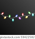 Garland Light bulp lamp christmas decoration vector transparent 59422582