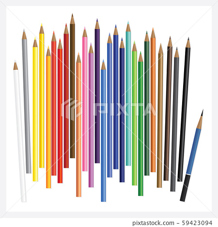 Colored Pencils with Drawing Realistic 3D  59423094