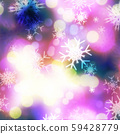 Purple bokeh and snowflakes 59428779