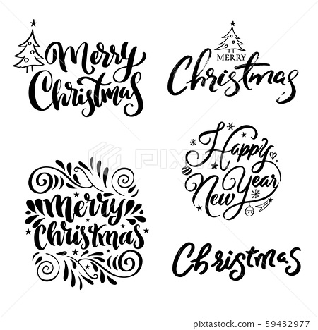 Happy New Year lettering 59432977