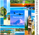 Tour packages concept. Collage for travel theme 59433985