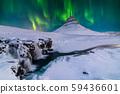 Northern Light, Aurora borealis at Kirkjufell in Iceland. 59436601