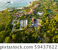 Luxurious hotel with a swimming pool at evening Sri Lanka, Drone photo. 59437622