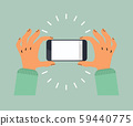 hand hold taking phone vector 59440775