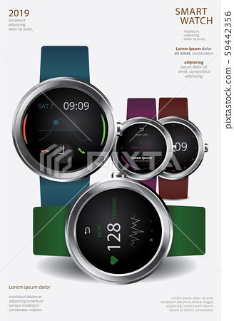 Smart Watch Poster Design Template Vector Illustration 59442356