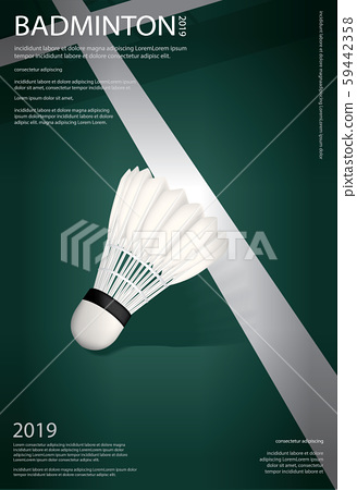 Badminton Championship Poster Vector illustration 59442358