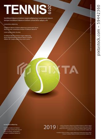 Tennis Championship Poster Vector illustration 59442360