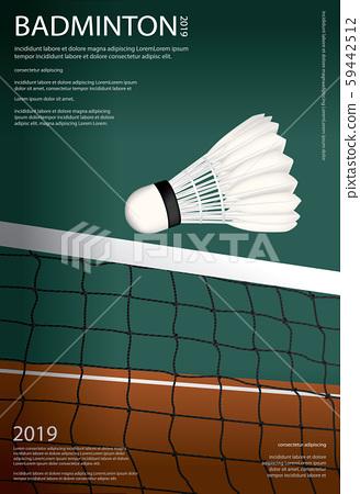 Tennis Championship Poster Vector illustration 59442512