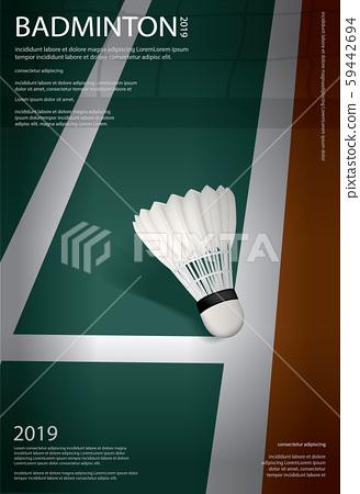 Badminton Championship Poster Vector illustration 59442694