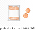 Transparent plastic package with round crackers 59442760