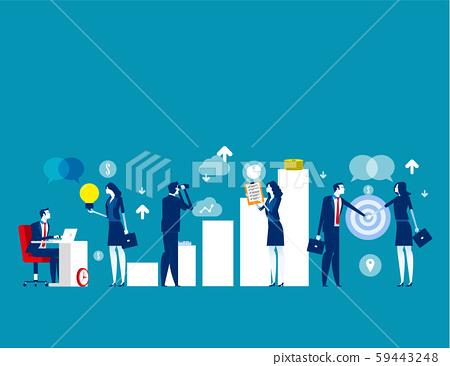 Business Start Up. Concept cartoon vector 59443248