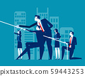 Business team pull ropes. Concept business vector 59443253