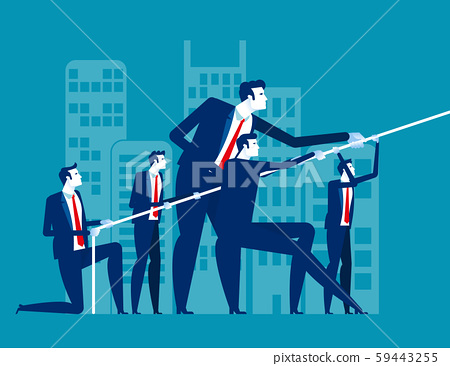 Business team pull ropes. Concept business vector 59443255
