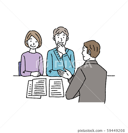 Middle aged couple consulting illustration 59449208