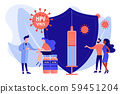 HPV vaccination concept vector illustration 59451204