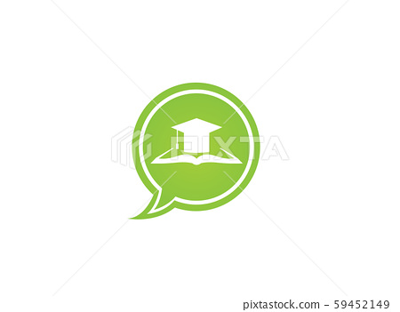 Graduation Hat on papers book for logo design 59452149