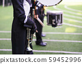 marching band with horn and drum 59452996