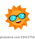 Happy funny smiling sun with sunglass  59453756