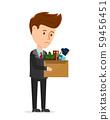 Dismissal frustrated concept. Business man 59456451