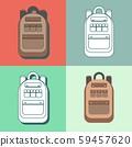 Set of different backpacks 59457620