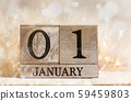 1st january sign with festive background 59459803