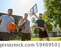 group of male friends going to play basketball 59469501