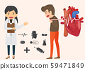Infographics. Heart disease and acute pain 59471849