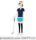 ภาพประกอบของผู้หญิงคนหนึ่งถือไม้กอล์ฟ 59475131