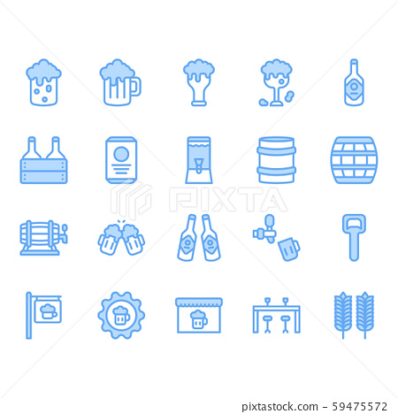 Beer and alcohol related icon and symbol set 59475572