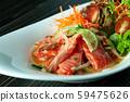 Tuna  spicy salad sauce , Thai spicy salad 59475626