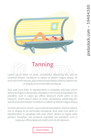 Tanning Web Poster with Woman Lying in Solarium 59484380